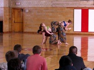 The dancers performing 'KITH'.