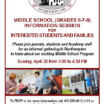 Flyer for Middle School Info Session for FB