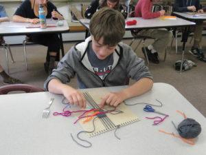 Frame Loom Weaving 9-11-18 1