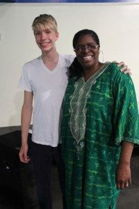 Allen Gabriel '16 with family friend Dr. Kathy Bullock.  Photo by Christina Gabriel.